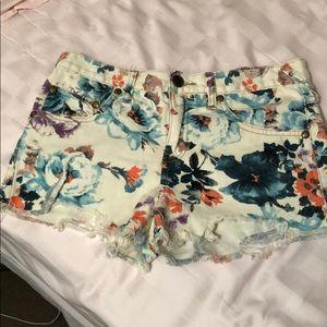 Free people floral cutoff shorts!